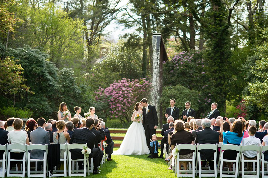 Casual garden wedding